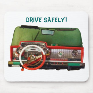 Drive Safely! Nostalgic Toy Dashboard Pic Mousepads