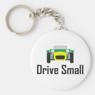 drive small super 7 basic round button key ring