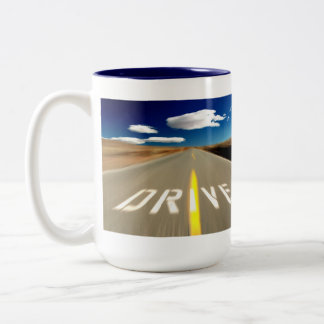 Drive the Desert Road Coffee Mugs