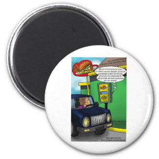 Drive Thru Metaphysics Funny Tees & Gifts 6 Cm Round Magnet