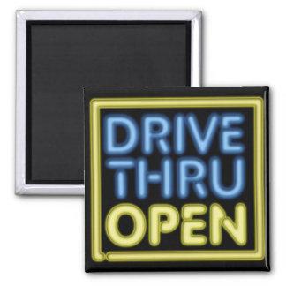 Drive Thru Open Neon Sign Magnet