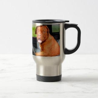 Drive to love peace joy dog dogue de bordeaux travel mug