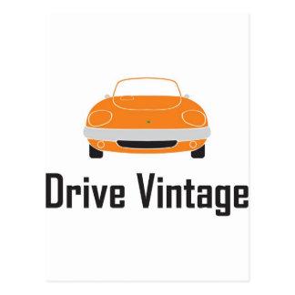 drive vintage elan postcards