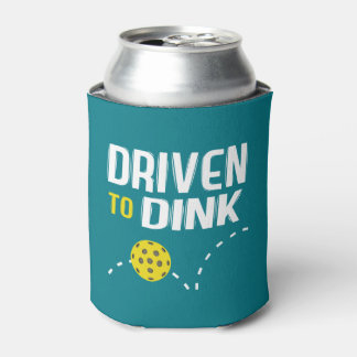 """Driven to Dink"" Pickleball Can Cooler"