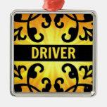 Driver Damask Christmas Ornament