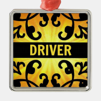 Driver Damask Christmas Ornament