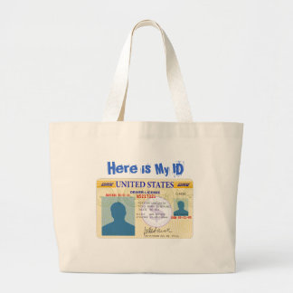 Driver license, Here is My ID Canvas Bags