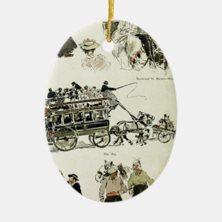 Drivers Ceramic Oval Decoration