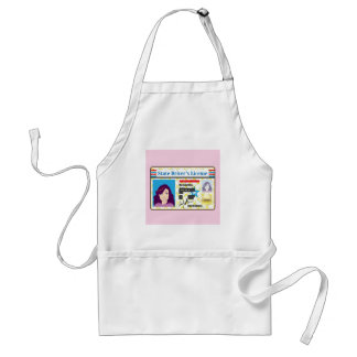 Driver's License Woman photo ID vector Standard Apron