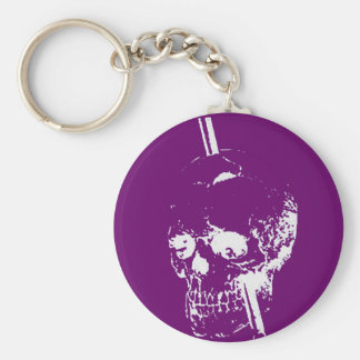 Driving A Long Nail Through The Skull Of A Corpse Key Ring