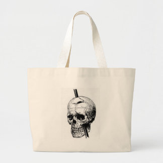 Driving A Long Nail Through The Skull Of A Corpse Large Tote Bag