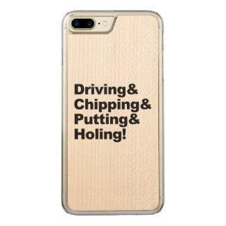 Driving&Chipping&Putting&Holing (blk) Carved iPhone 8 Plus/7 Plus Case