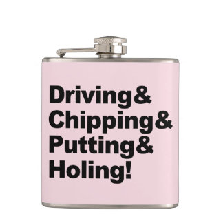Driving&Chipping&Putting&Holing (blk) Hip Flask