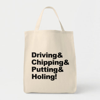 Driving&Chipping&Putting&Holing (blk) Tote Bag