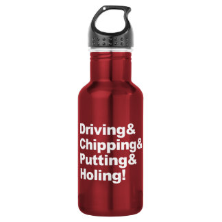 Driving&Chipping&Putting&Holing (wht) 532 Ml Water Bottle