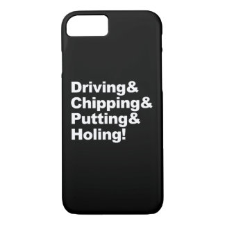 Driving&Chipping&Putting&Holing (wht) iPhone 8/7 Case