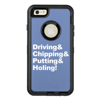 Driving&Chipping&Putting&Holing (wht) OtterBox Defender iPhone Case