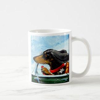 Driving Dachshuned On Pacific Coast Hwy Mug