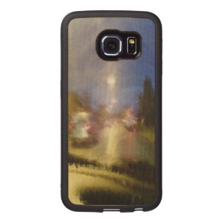 driving in a car wood phone case
