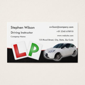 Driving Instructor Business Card Black Leather
