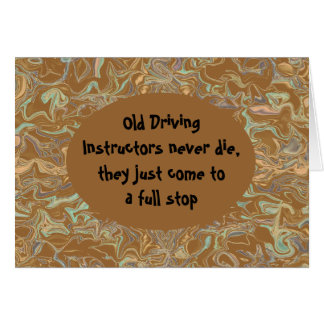 driving instructors greeting card