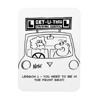 Driving Lesson - Pupil in the wrong seat Rectangular Photo Magnet