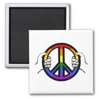 Driving Peace Square Magnet