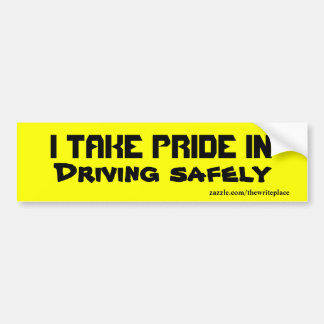 Driving safely  bumper stickers