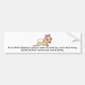 Driving Safety bumper sticker