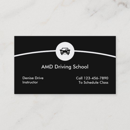 Driving School Business Cards Zazzle