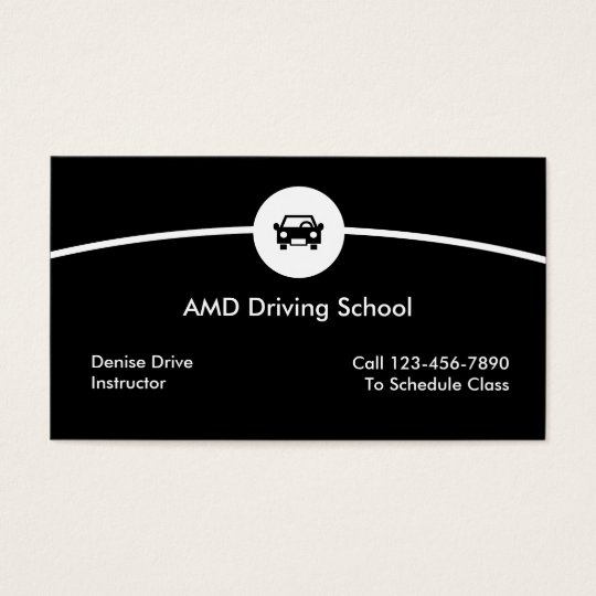 Driving School Business Cards