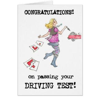 Driving Test Congratulations Card