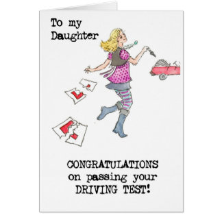 Driving Test Congratulations Card for Daughter