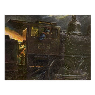 Driving the Iron Horse ~ Midnight Train POSTCARD