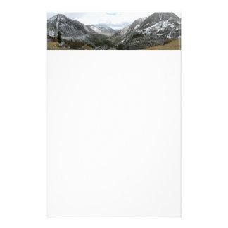 Driving Through the Snowy Sierra Nevada Mountains Custom Stationery