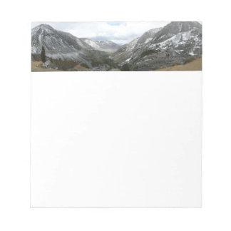 Driving Through the Snowy Sierra Nevada Mountains Notepad