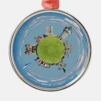 drobeta turnu severin tiny planet romania architec Silver-Colored round decoration