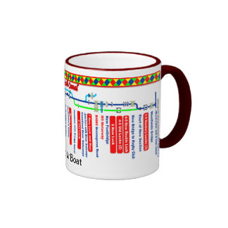 Droitwich Canal Route Map Ringer Mug