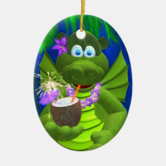 Drolly Dragons Coconut Girl Christmas Ornament
