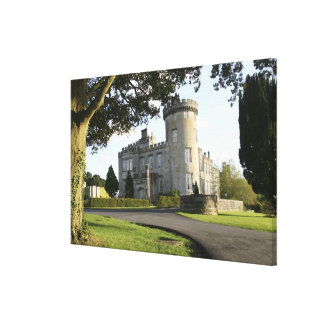 Dromoland Castle side entrance with no people Canvas Print