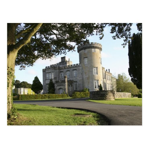 Dromoland Castle side entrance with no people Post Cards
