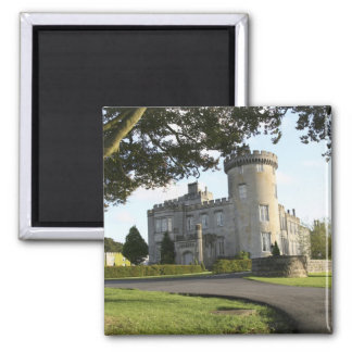 Dromoland Castle side entrance with no people Square Magnet