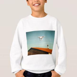 Dron above roofs sweatshirt