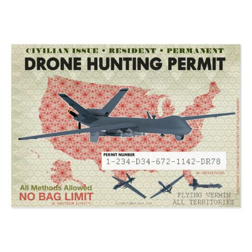 Colorado Hunting License: Drone Hunting Permits Business Card Templates