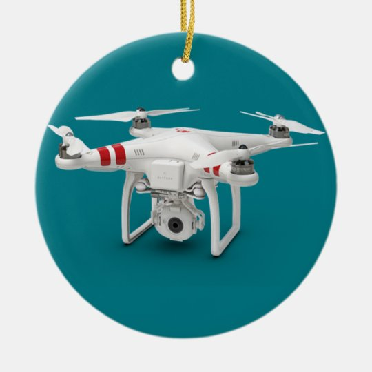 Drone phantom christmas ornament