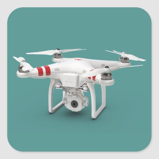 Drone phantom square sticker