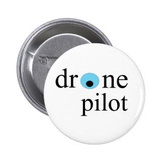 drone pilot 6 cm round badge