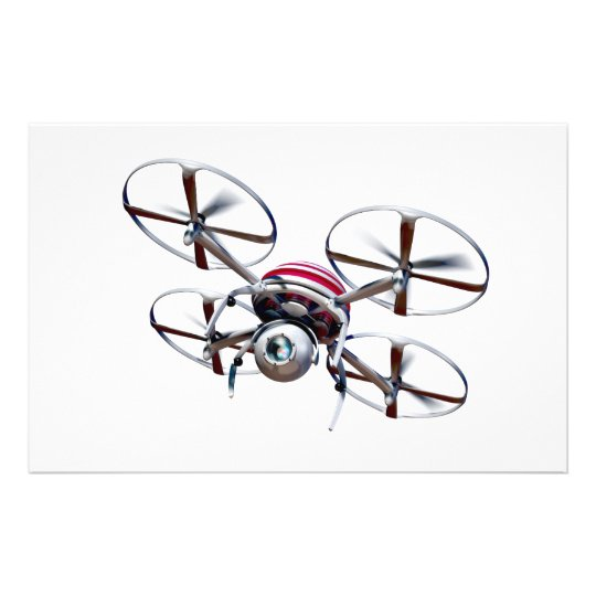Drone quadrocopter stationery