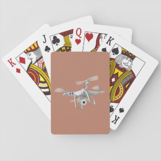 Drone white playing cards