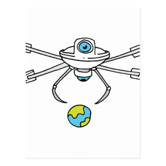 Droned traveling World Postcard